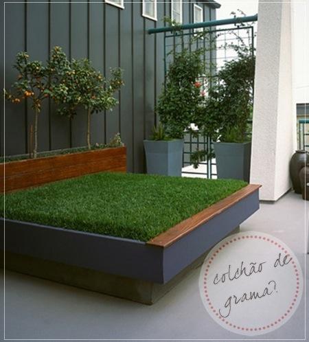 Uma grama que é um tapete…