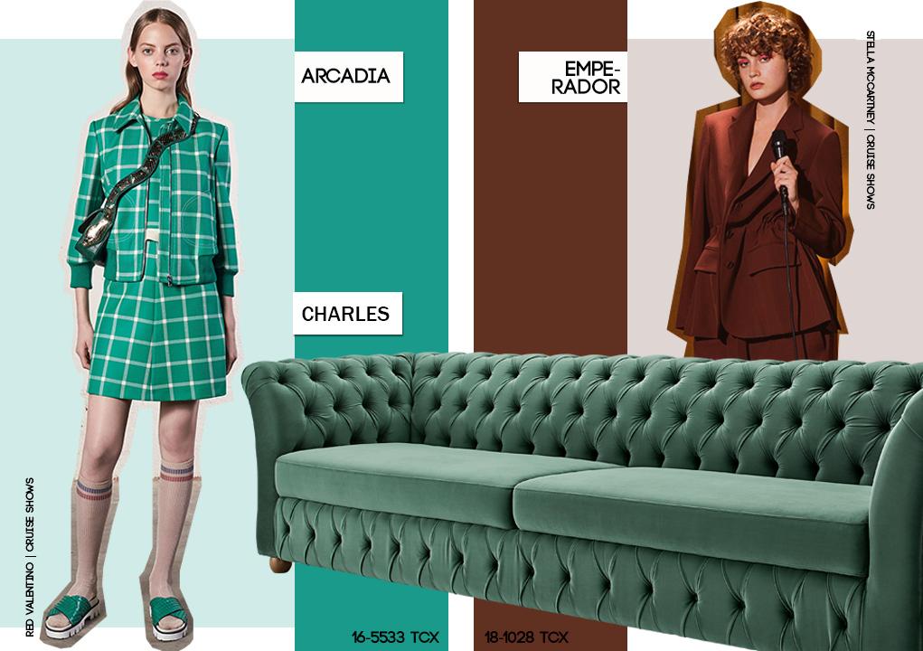 Pantone: paleta marrom e verde