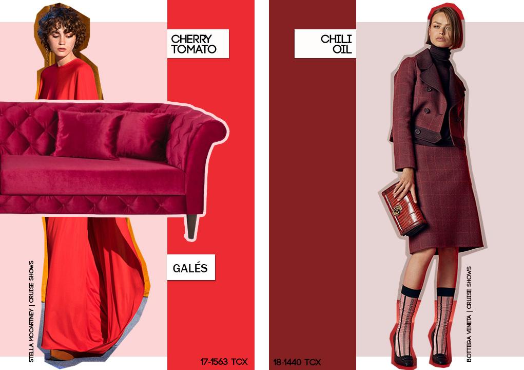 Pantone: vermelho