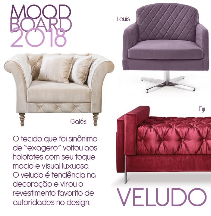 Moodboard 2018: veludo