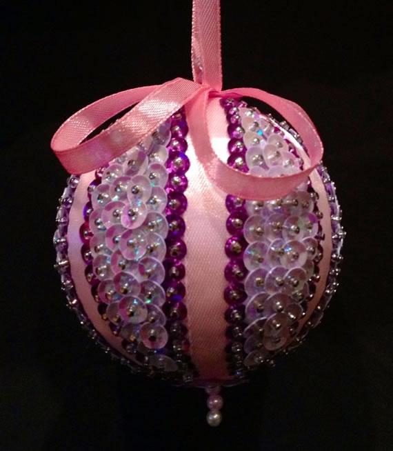 Especial Natal: bolas de lantejoulas