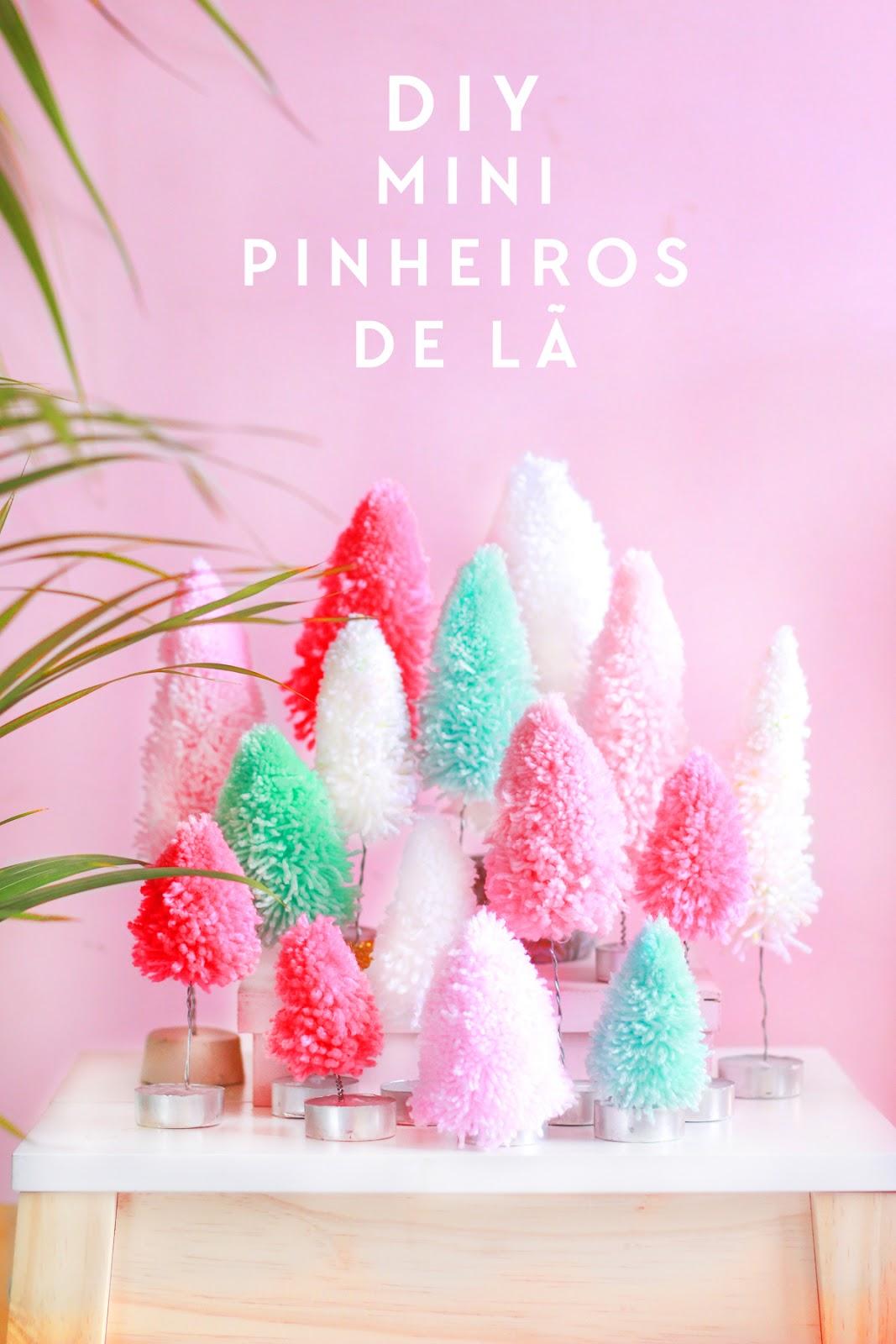 Especial natal: pinheirinhos de pompom!
