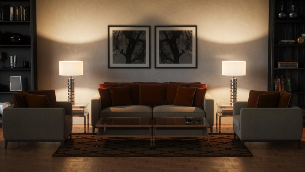 sala com espaço otimizado