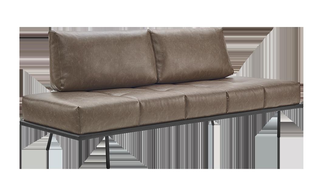 Sofá-cama Loft em couro